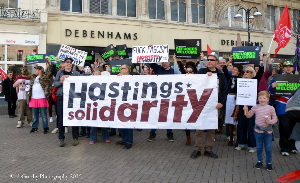 Hastings Solidarity on the march